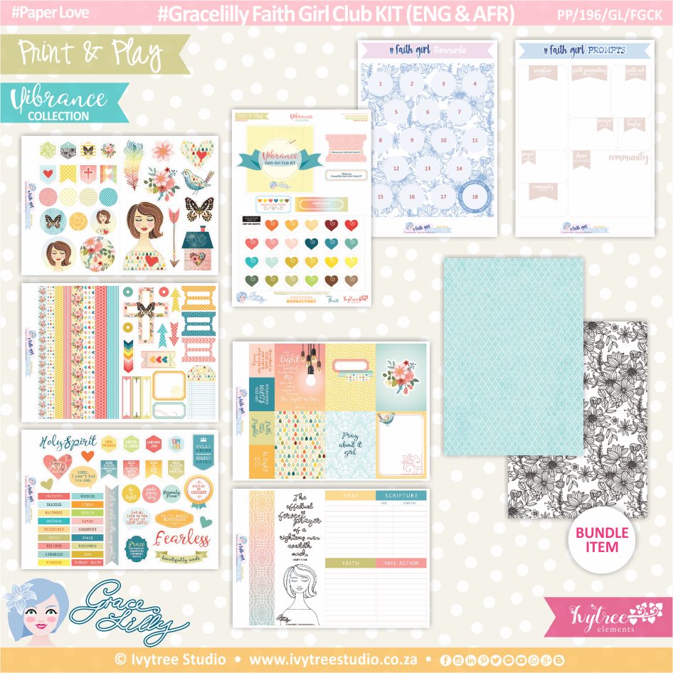 PP/196/GL/FGCK - Print&Play - Gracelilly Faith Girl Club KIT (Eng/Afr) - Vibrance Collection