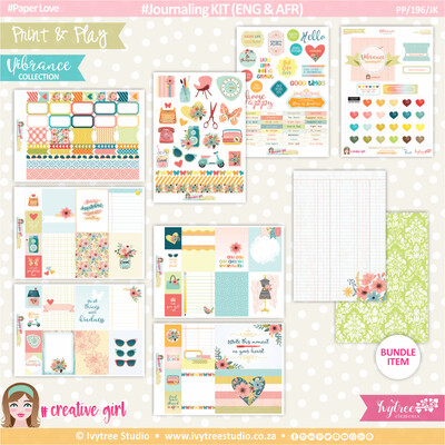 PP/196/JK - Print&Play - Journaling KIT (Eng/Afr) - Vibrance Collection