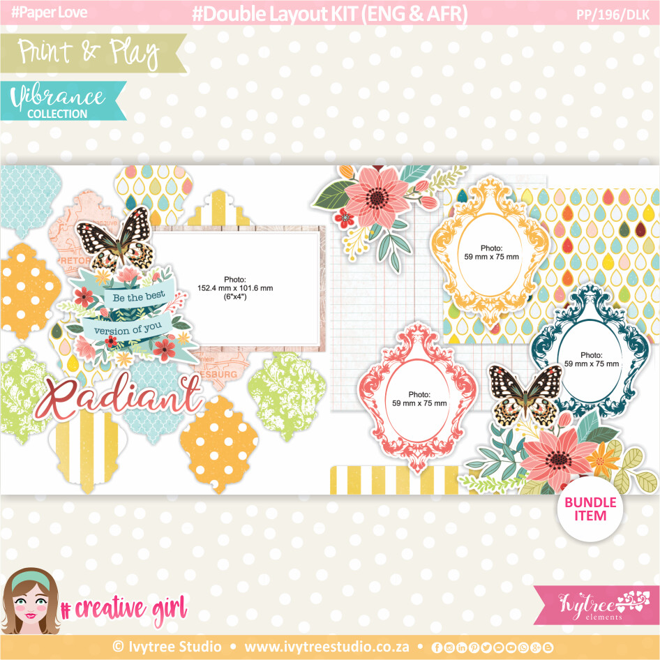 PP/196/DLK - Print&Play - Double Layout KIT (Eng/Afr) - Vibrance Collection