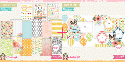 PP/196/PLK - Print&Play - Paper Love KIT (Eng/Afr) - Vibrance Collection