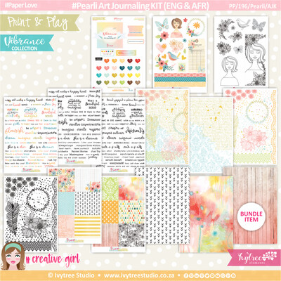 PP/196/Pearli/AJK - Print&Play - Pearli Art Journaling KIT (Eng/Afr) - Vibrance Collection