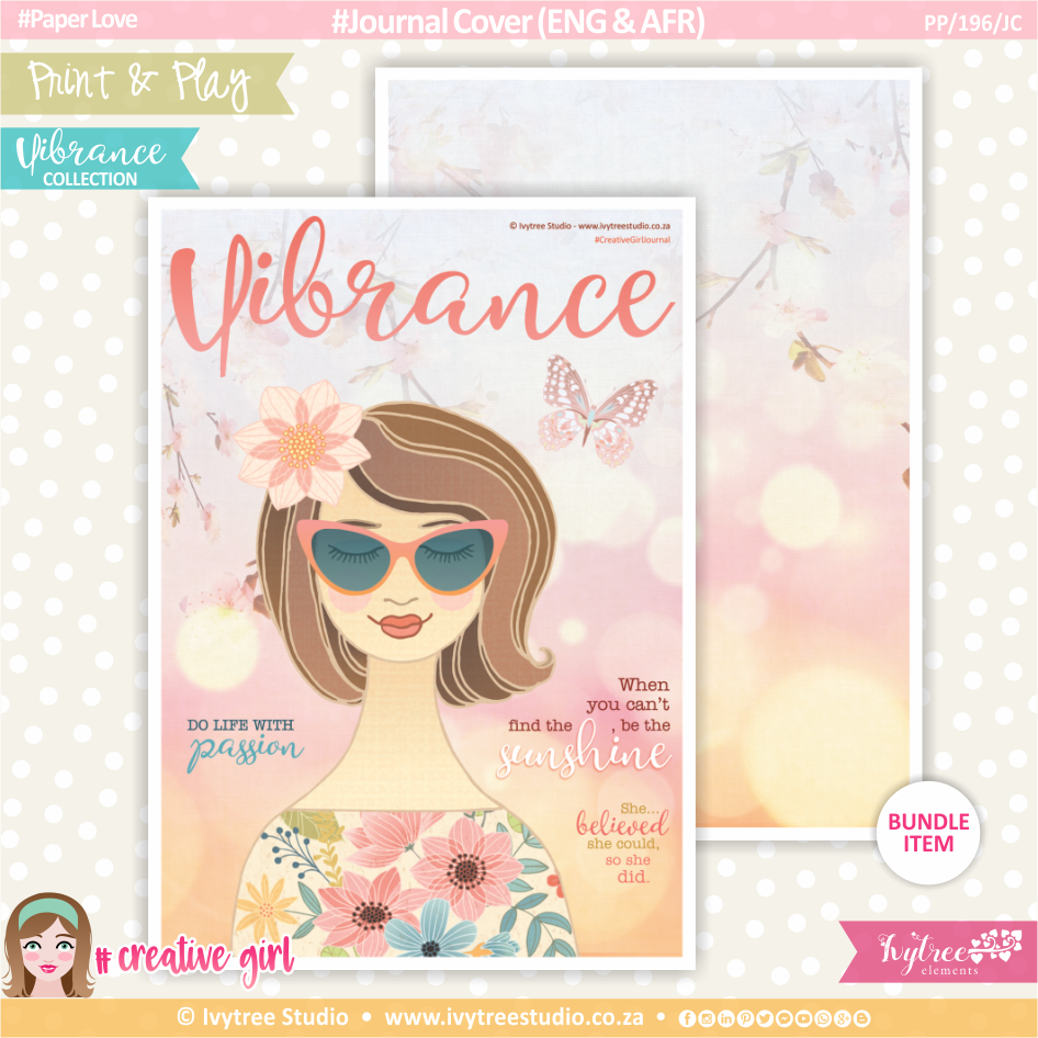 PP/196/JC - Print&Play - Journal Cover (Eng/Afr) - Vibrance Collection