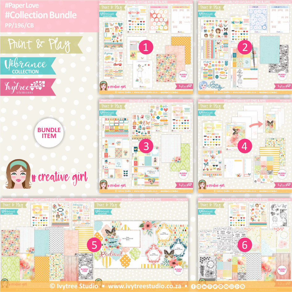 PP/196/CB - Print&Play - Collection Bundle (Eng/Afr) - Vibrance Collection
