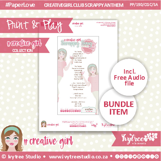 PP/190/CGC/SA - FREE #CREATIVEGIRL SCRAPPY ANTHEM - Printable & Audio