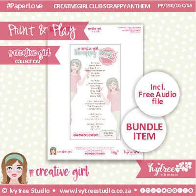 PP/190/CGC/SA - FREE #CREATIVEGIRL SCRAPPY ANTHEM - Printable & Audio