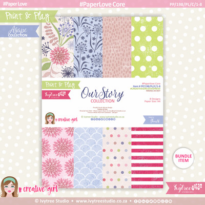 PP/198/PL/C - Print&Play - PaperLove Core Bundle - (A4 x 8) - OurStory Collection
