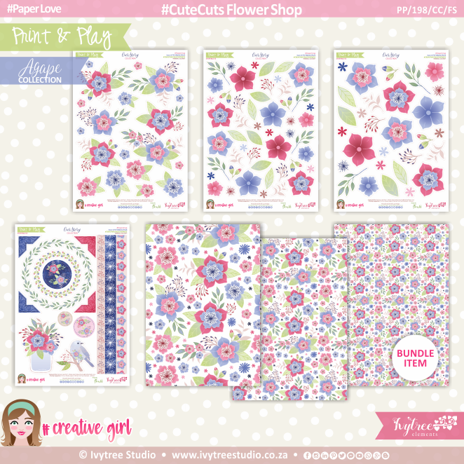 PP/198/CC/FS - Print&Play - CUTE CUTS - Flower Shop - OurStory Collection