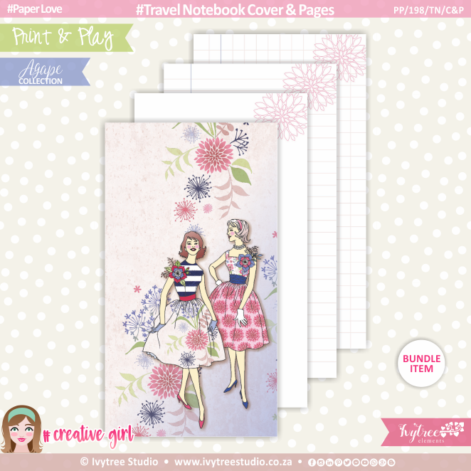 PP/198/TN/C&P - Print&Play - Travel Notebook - Cover&Pages - OurStory Collection