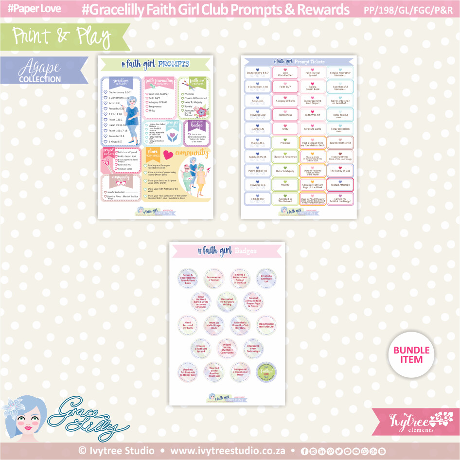 PP/198/GL/FGC/P&R - Print&Play - Gracelilly - Faith Girl Club Prompts & Rewards - OurStory Collection