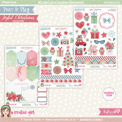 PP/199/CC/CE - Print&Play - CUTE CUTS - Creative Elements - Joyful Christmas Collection