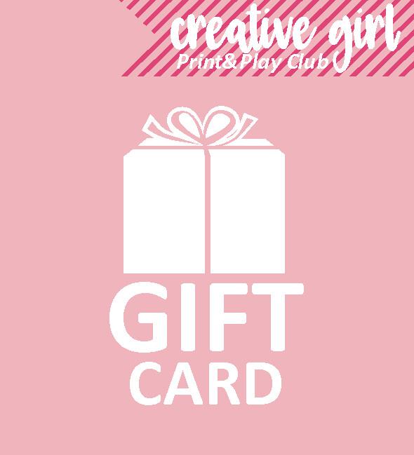 #Creativegirl Gift card