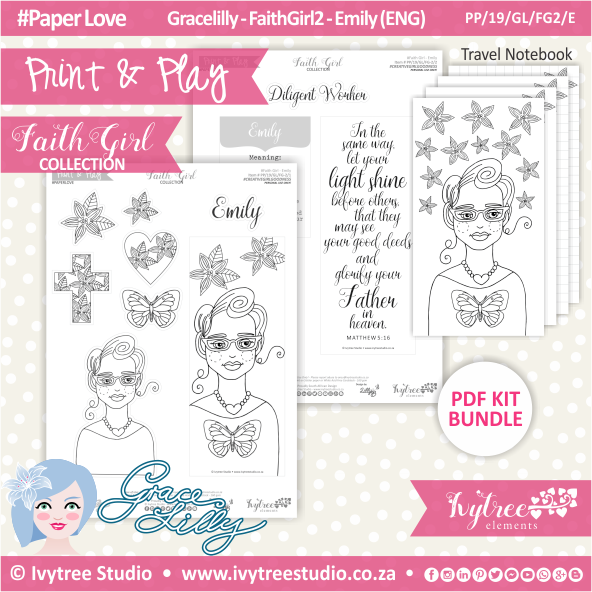PP 19 GL FG2 KIT - Print&Play - #FaithGirl KIT - Emily