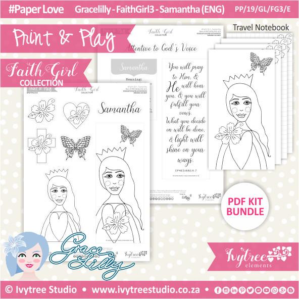 PP 19 GL FG3 KIT - Print&Play - #FaithGirl KIT - Samantha
