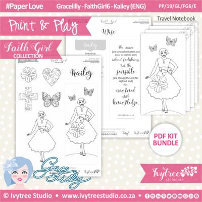 PP 19 GL FG6 KIT - Print&Play - #FaithGirl KIT - Kailey