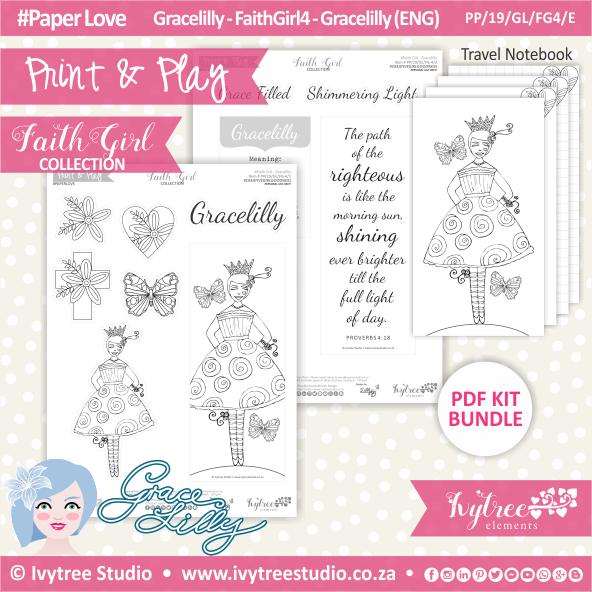 PP 19 GL FG4 KIT - Print&Play - #FaithGirl KIT - Gracelilly