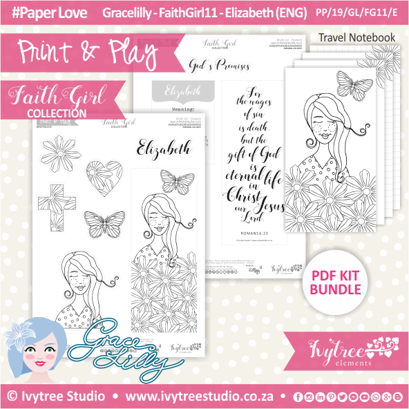PP 19 GL FG11 KIT - Print&Play - #FaithGirl KIT - Elizabeth