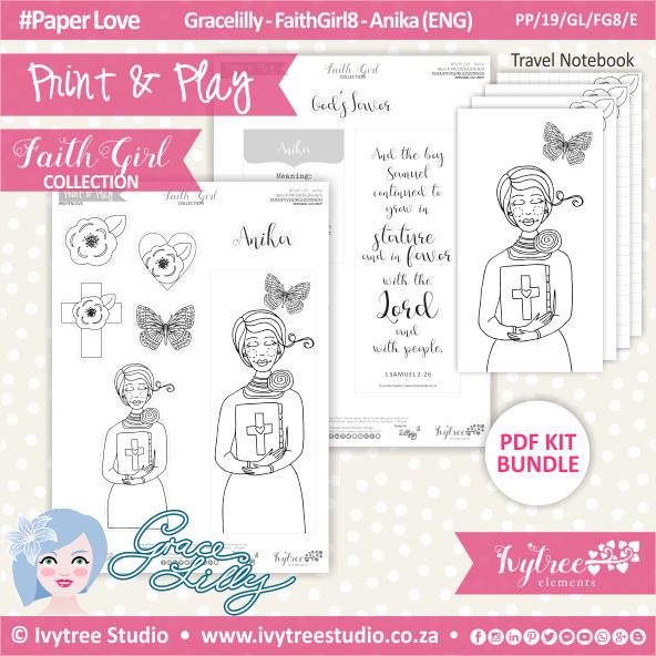 PP 19 GL FG8 KIT - Print&Play - #FaithGirl KIT - Anika