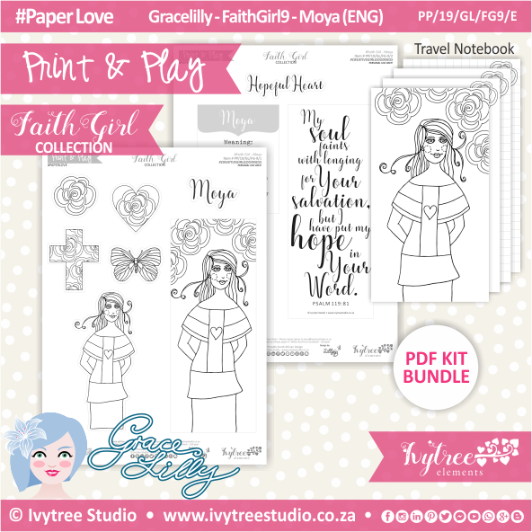 PP 19 GL FG9 KIT - Print&Play - #FaithGirl KIT - Moya