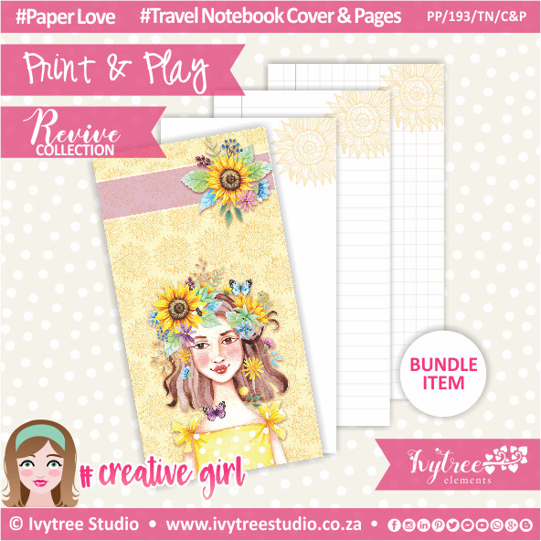 PP/193/TN/C&P - Print&Play - Travel Notebook Insert - Cover&Pages - Revive Collection