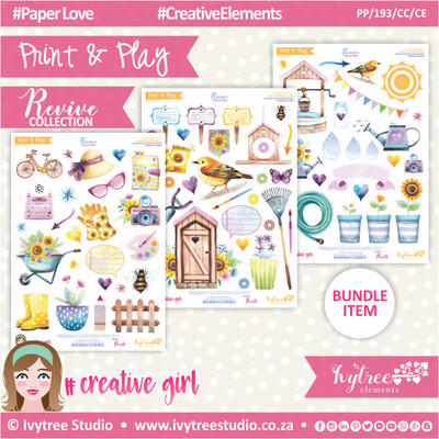 PP/193/CC/CE - Print&Play - CUTE CUTS - Creative Elements - Revive Collection