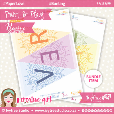 PP/193/RB - Print&Play - Retreat Bunting - Revive Collection