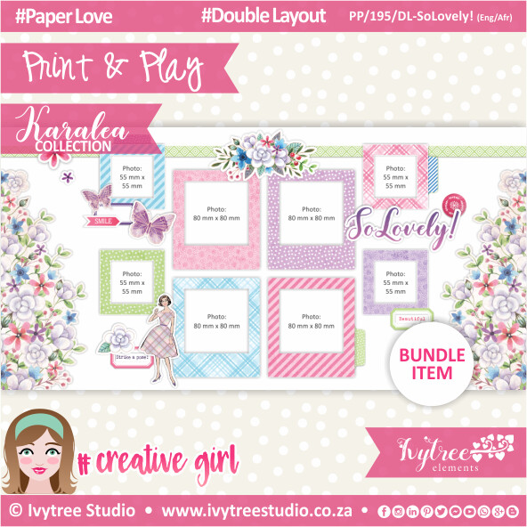 PP/195/DL-SL - Print&Play - Double Layout - SoLovely! (Eng/Afr) - Karalea Collection