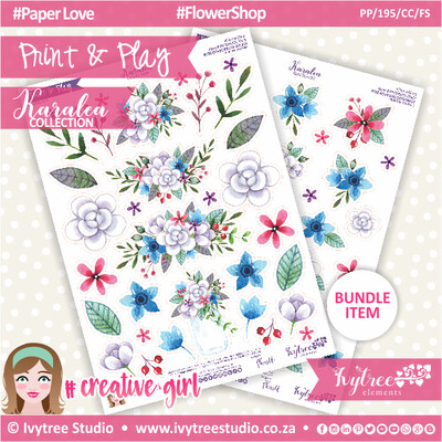 PP/195/CC/FS - Print&Play - CUTE CUTS - Flower Shop - Karalea Collection
