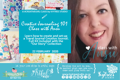 LillyB Creative Journaling Monthly Class with Ansu - Now a regular monthly class. Next class: 14 March 2020  8:00-11:00AM