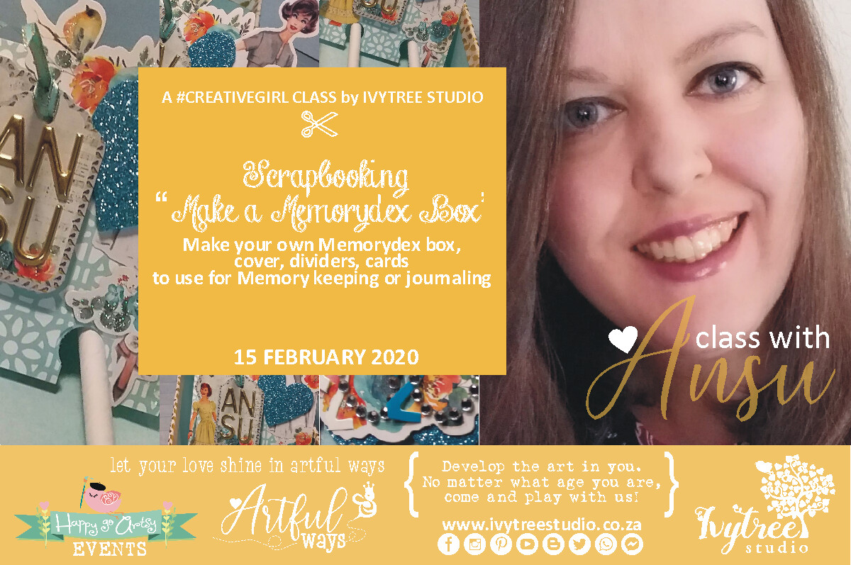 Creativegirl Scrapbooking Class with Ansu - Make your own Memory Dex Box  - 15 February 2020 8:00-11:00AM