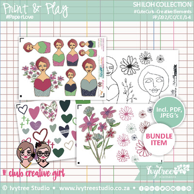 PP/202/CE - Print&Play - SHILOH COLLECTION - Creative Elements Kit (12 page kit)