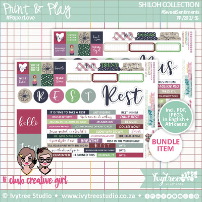 PP/202/SS - Print&Play - SHILOH COLLECTION - Sweet Sentiments - Incl. English+Afrikaans kits (4 page kit)