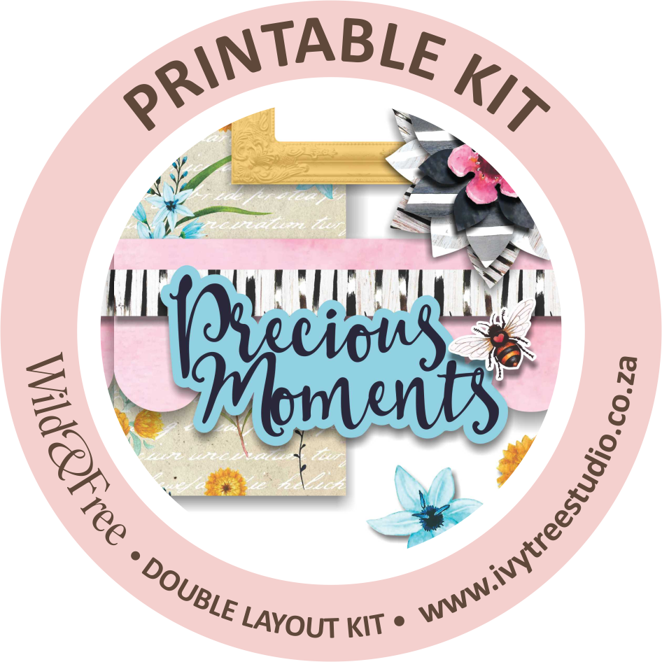 """Precious Moments"" Printable Double Layout Sketch & Kit"