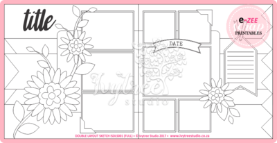 Double Layout Sketch & Template Pieces (Flora Flourish)
