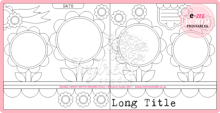 Double Layout Sketch & Template Pieces (Lollipop Parade)