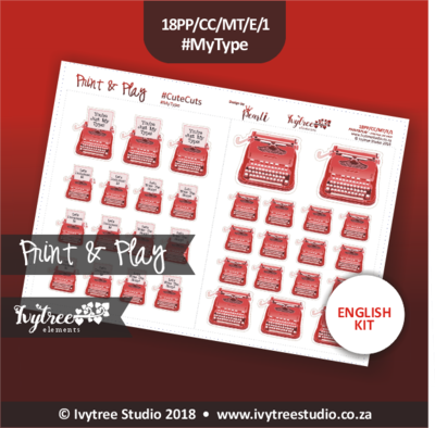 PP/172/CC/CE/1 - PRINT&PLAY #CuteCuts #My Type - English and Afrikaans
