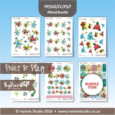 PP/162/CC/FS - Print&Play Heart Friends - Cute Cuts - FLOWER SHOP Bundle