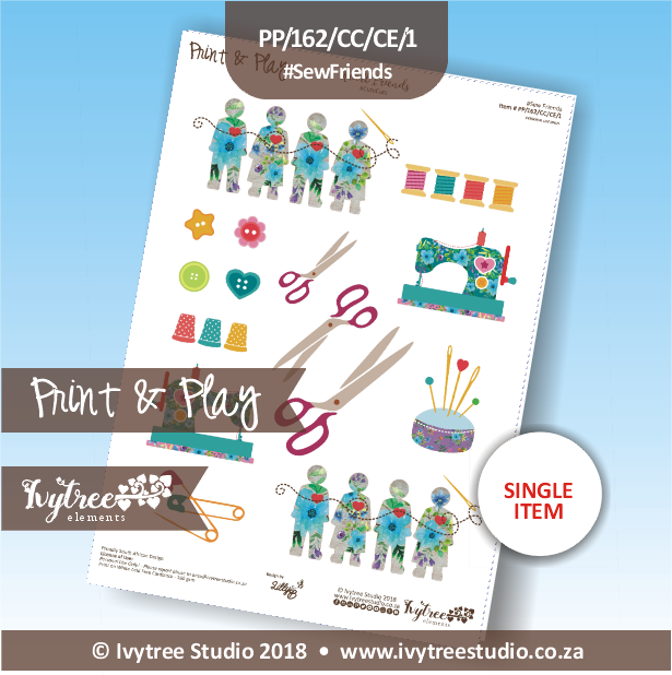 PP/162/CC/CE/1 - Print&Play - Cute Cuts - Creative Elements - Sew Friends