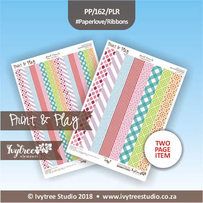PP/162/PLR - Print&Play Heart Friends - Paperlove Ribbons