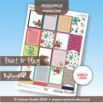 PP/162/PPC/3 - Print&Play Heart Friends - Pretty Pocket Cards - Variety (Ideal for Planners and Pocket letters)