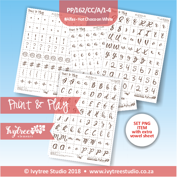 PP/162/CC/A/1-4 - Print&Play Heart Friends - Alfa Set (with extra vowel sheet; PNG & PDF)