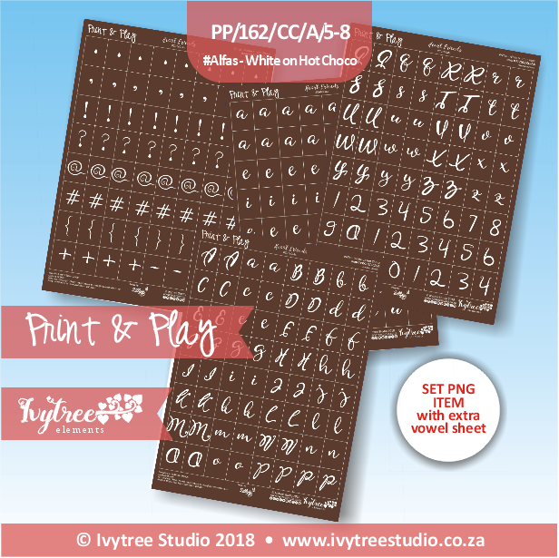 PP/162/CC/A/5-8 - Print&Play Heart Friends - Alfa Set (with extra vowel sheet; PNG & PDF)