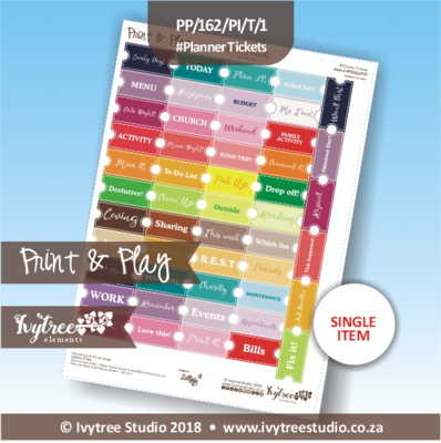 PP/162/PI/T/E - Print&Play Heart Friends - PLAN IT! - Planner Tickets