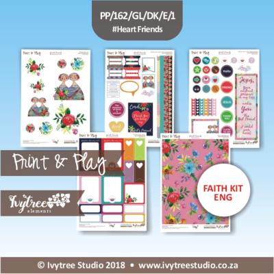 PP/162/GL/CFK/E - Print&Play GraceLilly Creative Faith Kit - Heart Friends (English)