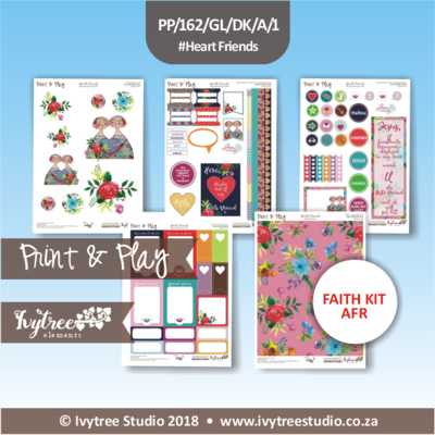 PP/162/GL/CFK/A - Print&Play GraceLilly Creative Faith Kit - Heart Friends (Afrikaans)