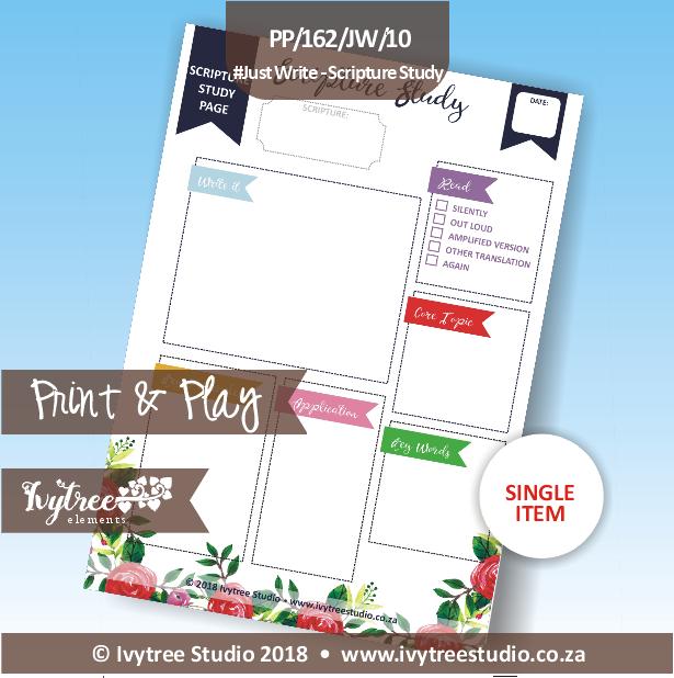 PP/162/JW/10 - Print&Play - Just Write - Scripture Study