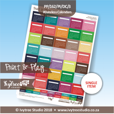 PP/162/PI/DC/3 - Print&Play Heart Friends - PLAN IT! - Dateless Calendars