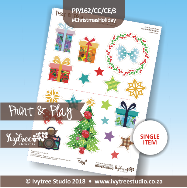 PP/162/CC/CE/3 - Print&Play - Cute Cuts - Creative Elements - Christmas Holiday