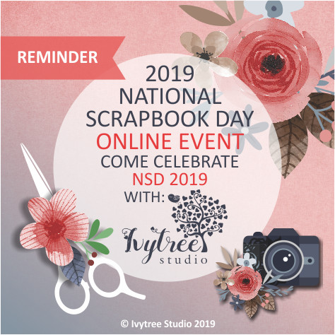 National Scrapbook Day 2019 ONLINE CHARITY EVENT with Ivytree Studio