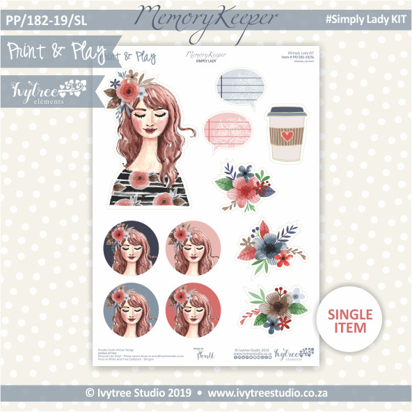 #PP/182-19/SL - Print& Play Memory Keeper Simply Lady Kit