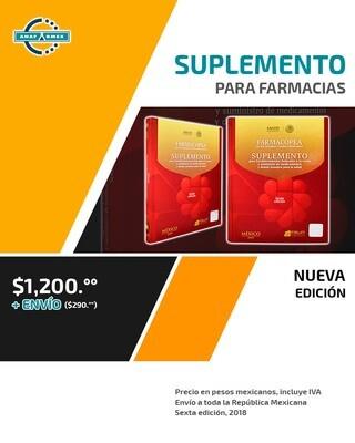 Sexta Edición Suplemento de la Farmacopea 2018